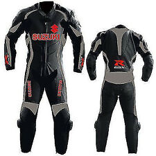 SUZUKI MOTORCYCLE LEATHER SUIT SPORTS MOTORBIKE COWHIDE LEATHER SUIT