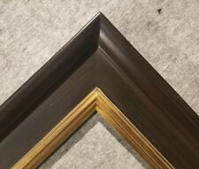 """4.75"""" WIDE Fancy Black With Gold Liner Oil Painting Wood Picture Frame 20A"""