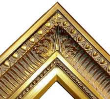 """4.25"""" WIDE Fancy Gold Ornate Oil Painting Wood Picture Frame 655G"""