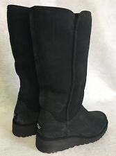 UGG AUSTRALIA KARA classic Black suede women's tall boots 1013429 multiple size