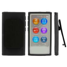 TPU Soft Skin Cover Case Shell with Belt Clip For iPod Nano 7 7G 7th Gen