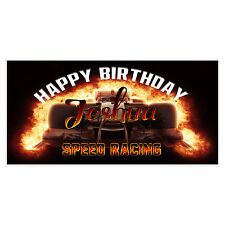 Speed Racing Birthday Banner Personalized Custom Party Backdrop Decoration