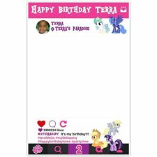 My Little Pony Selfie Frame Photo Booth Prop Poster