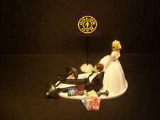NO More GYM Workouts Bride and Groom Wedding Cake Topper Funny