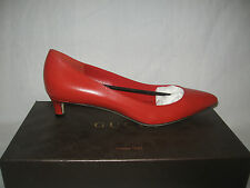 NIB AUTN GUCCI Dark orange Leather Heels Pumps MALAGA KID SHOES size IT 38  8 US