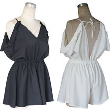 Sexy Jumpsuits V-Neck Short Women Rompers Fashion Strap Beach Summer New