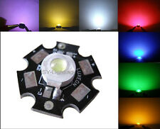 High Power 1W 3W RED WHITE BLUE GREEN YEELOW UV WARM WHITE LED Light +LUXEON PCB