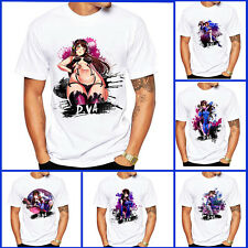Anime Overwatch OW D.VA Short Sleeves Rabbit Coat Top Tee T-shirt Cosplay Gift