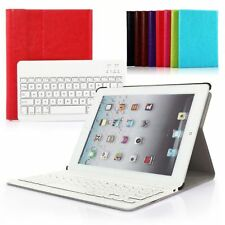 For iPad Mini 2/3 PU Leather Cover Case Removable Wireless Bluetooth Keyboard