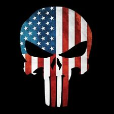 PUNISHER SKULL AMERICAN FLAG STICKER DECAL SNIPER MADE IN USA Buy 2, get 3rdFREE