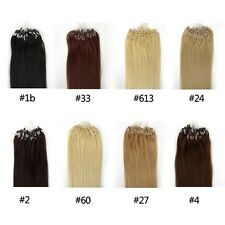 1g/s 100g Micro Bead Loop Ring Remy Human Hair Extensions
