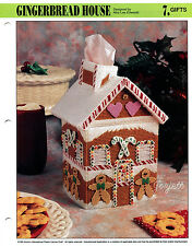 Gingerbread House Tissue Box Cover, Annie's plastic canvas pattern