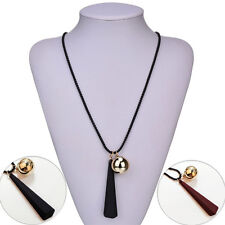 Necklace Fashion Pendant New Jewelry 1Pcs Sweater For Women Necklaces Wood Alloy