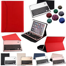 """Backlit Bluetooth Aluminum Keyboard+Leather Case Stand For New iPad 9.7"""" 12.9"""""""