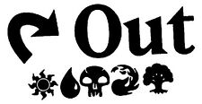 Vinyl Decal Sticker Car Truck Window - MTG Magic The Gathering Tap Out