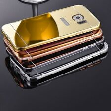 Luxury Aluminum Ultra-thin Mirror Metal Case Cover for Samsung Galaxy Phones