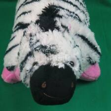 SOFT BLACK WHITE PINK PILLOW PETS ZEBRA PEE-WEES PLUSH STUFFED ANIMAL TOY