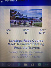 Saratoga Racecourse Travers Stakes Tickets August 26, 2017 Saratoga Springs