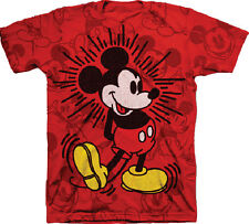Disney Mickey Mouse Youth Boys Red Mickey Hearing T Shirt