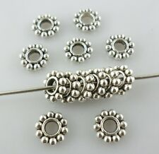 160/1200pcs Tibetan Silver Snowflake Spacer Beads Crafts Jewelry Findings 6.5mm