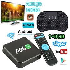 A96X 1+8GB S905 4K Android 6.0 TV Box 2.4G WiFi HDMI Player Quad Core + Keyboard