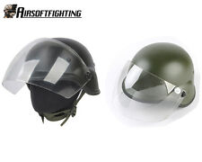 Hunting Airsoft Tactical Paintball M88 PASGT Kelver Swat Helmet + Clear Visor