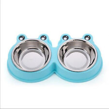 Dog Bowls Diner Dish Stainless Steel Removable Puppy Cat Food Water Pet Feeder