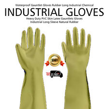 New XL Skin Latex Gauntlets Gloves Industrial Long Sleeve Natural Rubber Glove