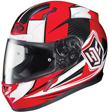 HJC Adult CL-17 Striker Red/Black/White Full Face Motorcycle Helmet Snell DOT