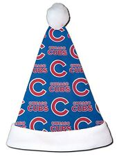 "NEW MLB Chicago Cubs Christmas Baseball Santa Hat Personalized 18"" Illinois"