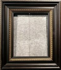 """5.75"""" WIDE Black & Gold photo family Oil Painting Wood Picture Frame 333BG"""