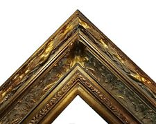 "5.5"" WIDE Dark Gold Antique photo family Oil Painting Wood Picture Frame 668D"