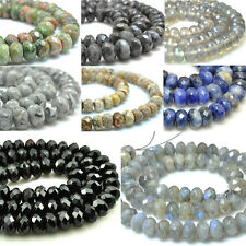 Wholesale Natural Gemstone Beads Faceted Beads Rondelle Stone Beads 5x8mm 15''