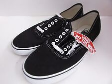 Vans Authentic Core Classic Canvas Sneakers Men's Black NEW With Tags - jc