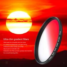 Ultra Slim Gradual Graduated Color ND Red Filter for DSLR SLR Camera Lens