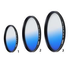 Slim Blue Graduated Color Camera Lens Filter For Canon Camera 40.5/49/62mm