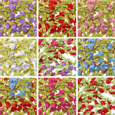 Wholesale Flower Bud Satin Ribbon Rosebuds Craft Wedding Supply Sewing Appliques