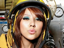 Hot Japanese Firefighter Girl Lips Kiss Wall Print POSTER CA