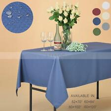 Rectangle Polyester Honeycomb Jacquard Tablecloth Home Restaurant Waterproof