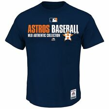 Houston Astros Majestic MLB Authentic Collection Navy Blue T-Shirt - Brand New