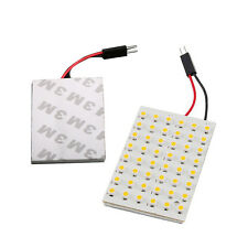 Interior 48 SMD Lights Car New Dome Lamp COB LED White Light Panel T10 4W 12V
