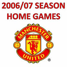 MANCHESTER UNITED HOME PROGRAMMES - 2006/07 - SELECT A FIXTURE