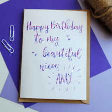 Personalised NAME Birthday Card - Niece - Friend - Sister - Son - Daughter