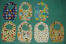 NEW cute CHILD BABY BIB Jungle Safari monkey zebra elephant lion giraffe gorilla