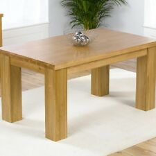 Barcelona Solid Oak Dining Table (Size 150cm/180cm/200cm And Colours Oak/Dark Oa