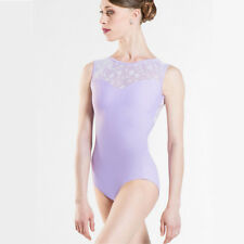 Wear Lilac Moi Majeste Lace Back Tank Leotard - Ballet Dance