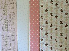 Coloured card stock check A4 baby, gingham, flowers, hearts, bikes, scrapbooking