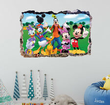 Mickey and Friends Smashed 3D Wall Decal Mural Art Home Decor Sticker DA14