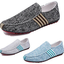 Fashion Loafer Slip on Breathable Casual Sneakers Driving Canvas Flat Men shoes