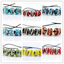 SILVER MURANO GLASS BEAD fit European Charm Bracelet 5pcs